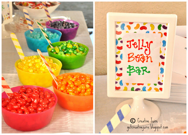jelly bean party rainbow party favor bar
