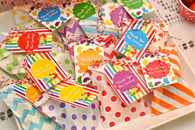 jelly bean rainbow birthday party favors