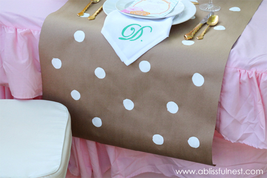 DIY Paper Table Runner - A Blissful Nest