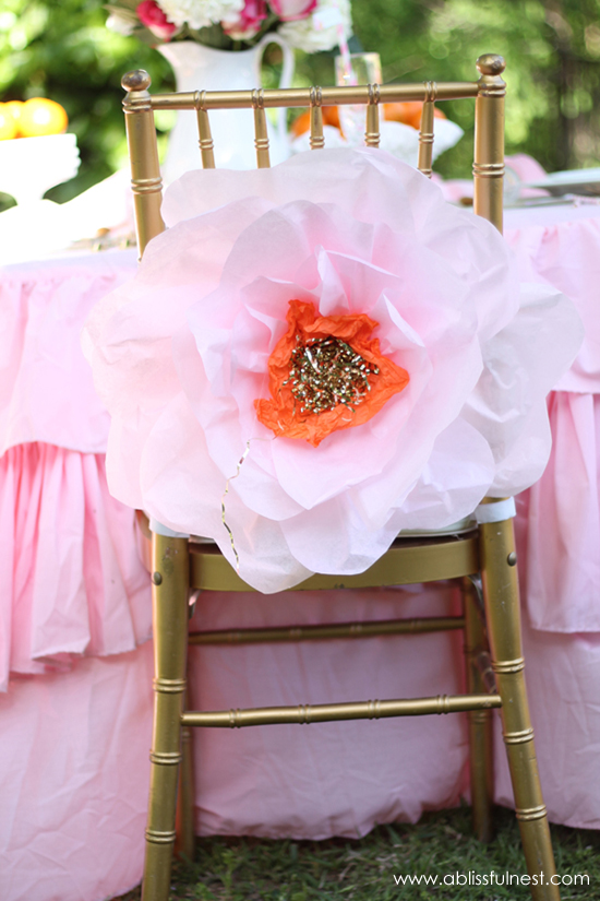 Oversized tissue paper flowers diy tutorial mothers day brunch a blissful nest mightylinksfo