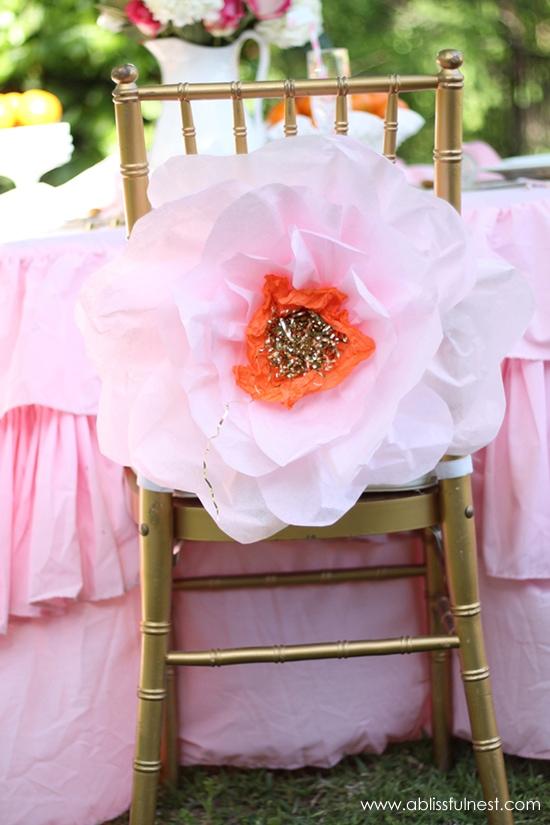 Oversized Tissue Paper Flowers