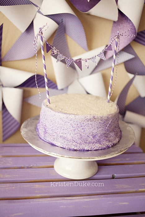 Pretty Purple Party cake