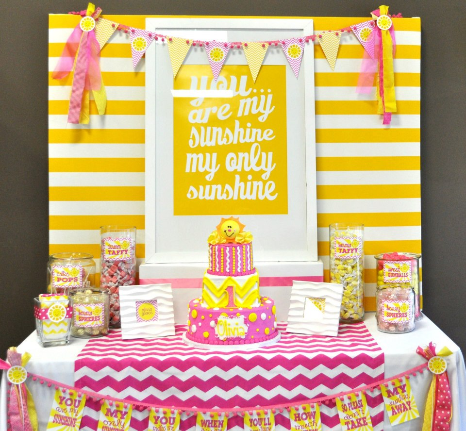 You are my Sunshine dessert table