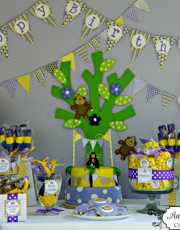 {BN Black Book of Parties} Purple and Yellow Monkey Party