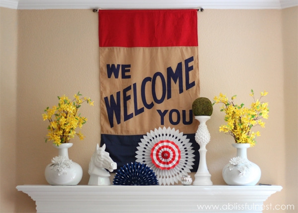 4th Of July Mantle - A Blissful Nest