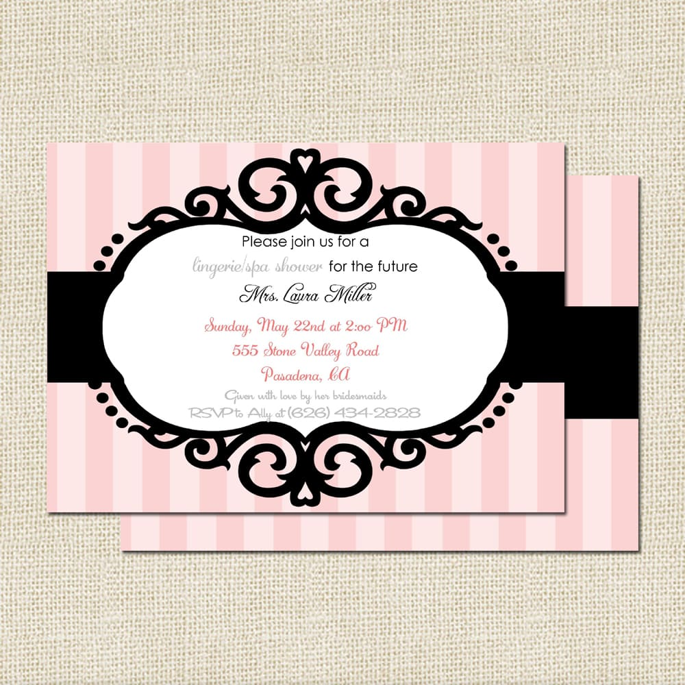 modern bridal shower invitation $ 15 00 $ 82 50 a modern lingerie ...