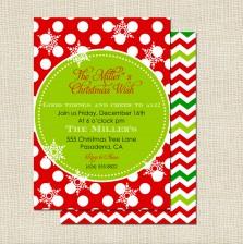 Christmas Wish Invitation - A Blissful Nest