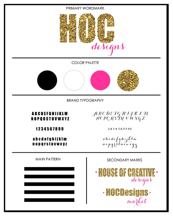 House of Creative Designs Branding Board {Branding Client} House Of Creative Designs