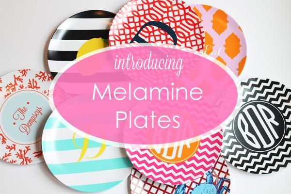 Monogram Melamine Plates - A Blissful Nest