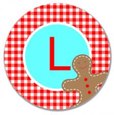 Gingerbread Man Melamine Plate - A Blissful Nest