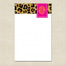 Cheetah Monogram Notepad - A Blissful Nest