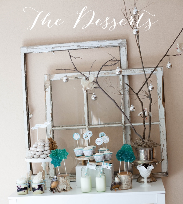 Winter Wonderland by A Blissful Nest Feature Winter Wonderland Party   The Dessert Table