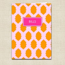 Ikat Pocket Folder Pink - A Blissful Nest