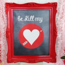Valentines Day Frame Art by A Blissful Nest