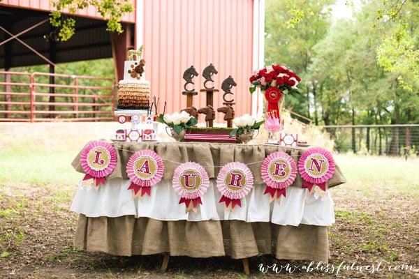 Lauren's Horse Party – The Dessert Table