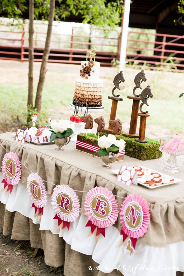 Horse Party by A Blissful Nest 029 Laurens Horse Party   The Dessert Table