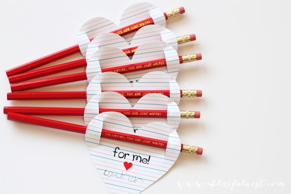 """You Are Just Write!"" Valentine FREE Printables"