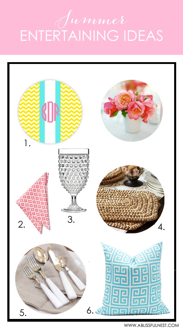 Summer Entertaining Ideas by A Blissful Nest
