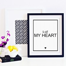 Be Still My Heart Art Print by A Blissful Nest
