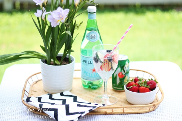 Cucumber Berry Spritzer Recipe by A Blissful Nest