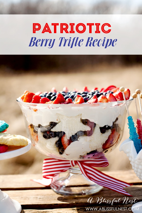 Berry Trifle Recipe by A Blissful Nest