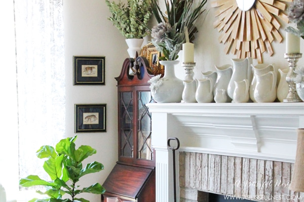 {Our Home} Updated Living Room Ideas + Leopard Art Prints