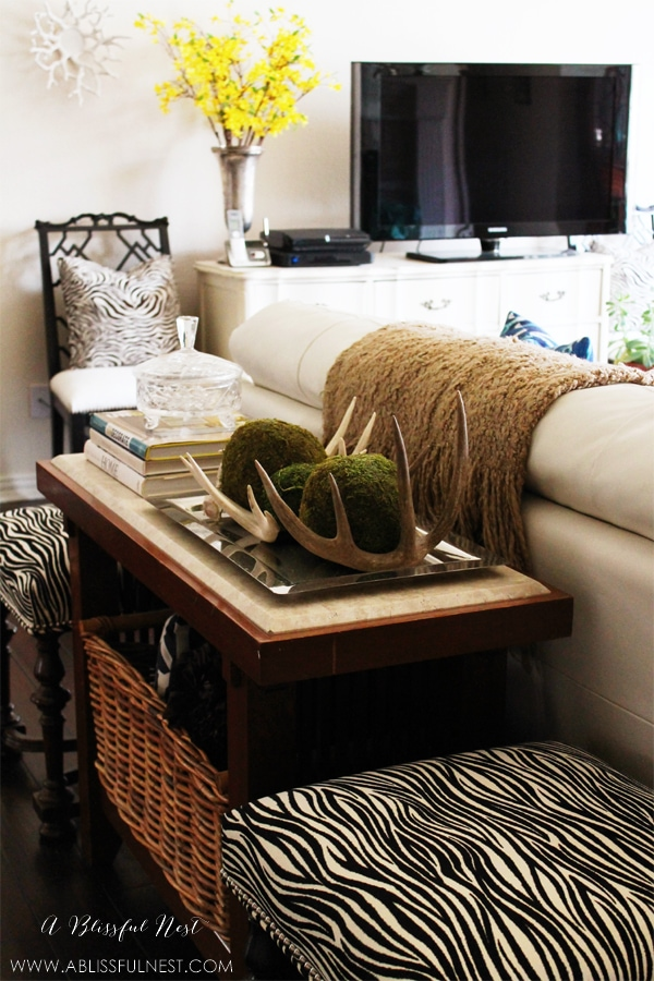 Living Room Styling by A Blissful Nest