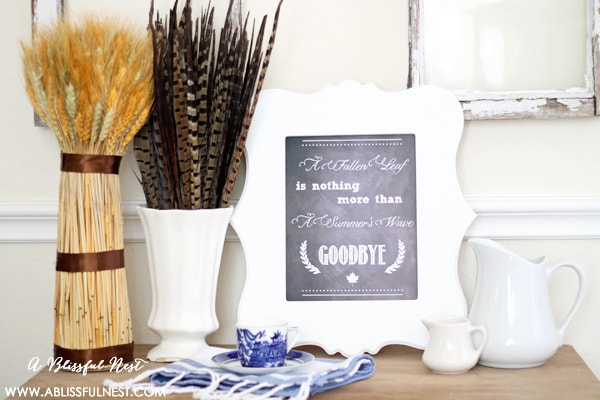 Fall Printable Chalkboard Fall Printable by A Blissful Nest