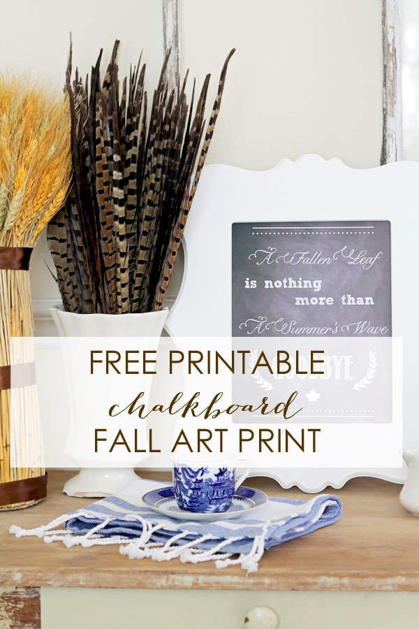 Fall Printable Chalkboard Free Printables by A Blissful Nest