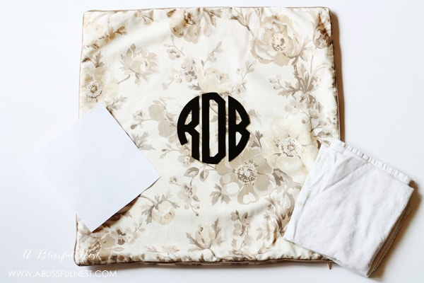 DIY Tutorial - Pillow Monogram by A Blissful Nest