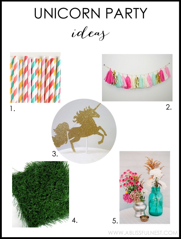 Unicorn Party Ideas by A Blissful Nest