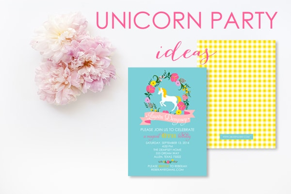 Unicorn Party Invitation by A Blissful Nest
