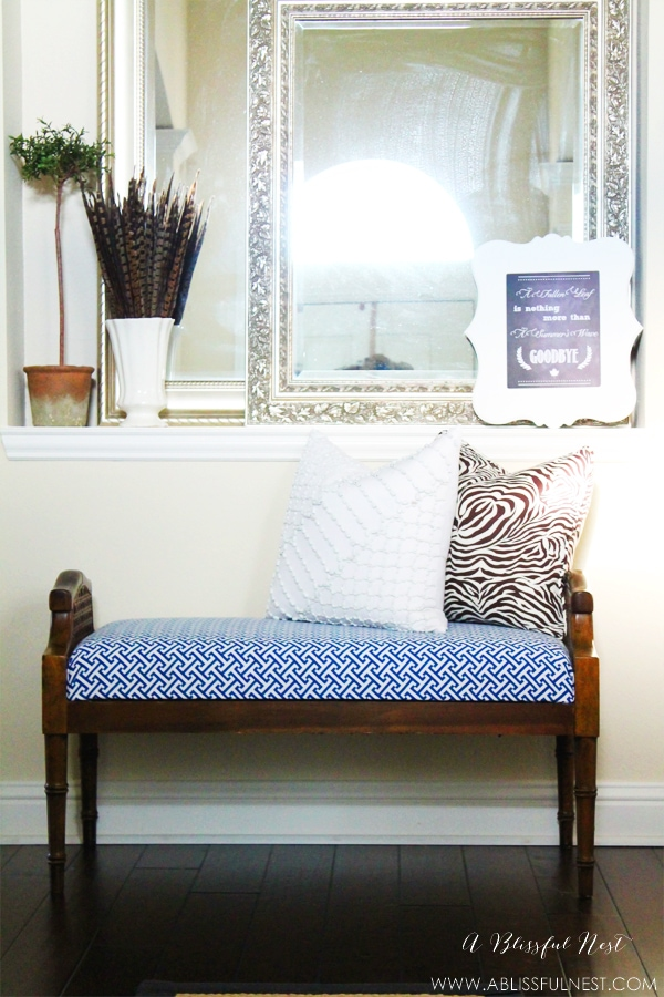Entry Bench Makeover - A Blissful Nest