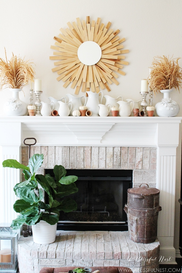 Fall Mantel Decor by A Blissful Nest