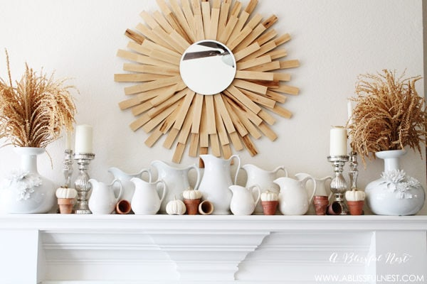 {Our Home} Fall Mantel Decorating Ideas