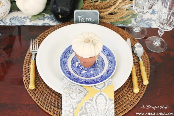 Fall Thanksgiving Tablescape by A Blissful Nest