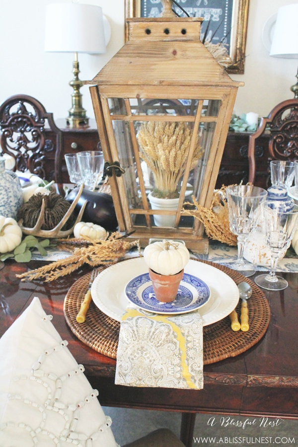 Fall Dining Room Ideas by A Blissful Nest