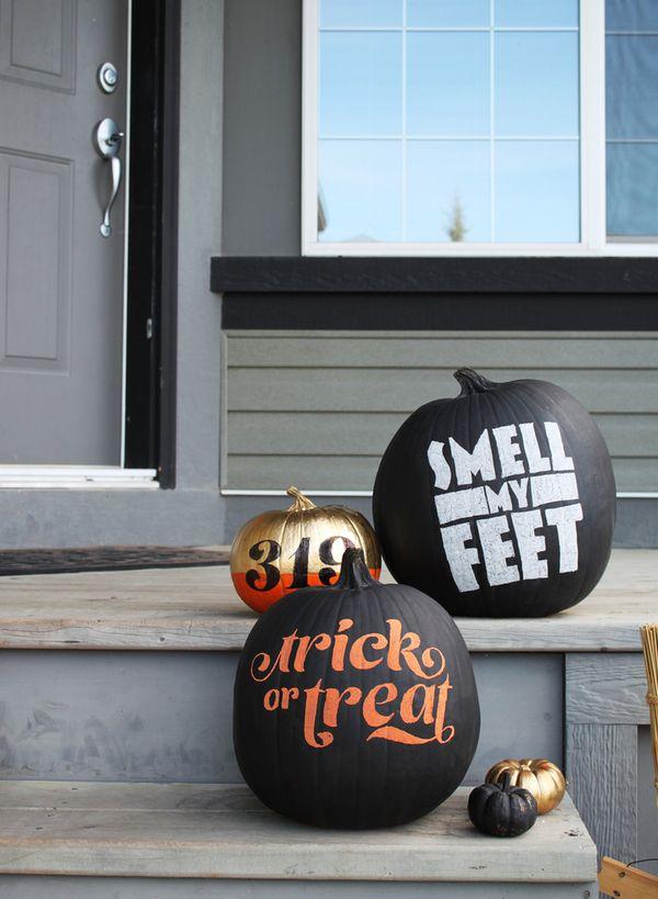 20 Pumpkin Decorating Ideas via A Blissful Nest