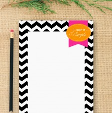 Chevron Notepad by A Blissful Nest