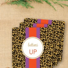 Leopard Drink Coasters by A Blissful Nest
