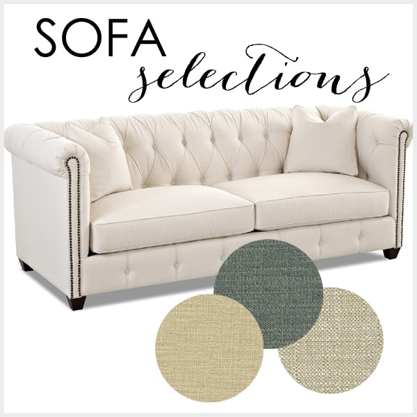 Custom Upholstery Selections For A Client