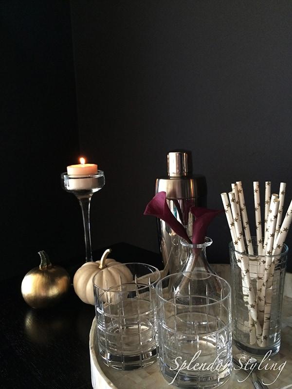 diy-chic-fall-decor-gold-pumpkin-bar