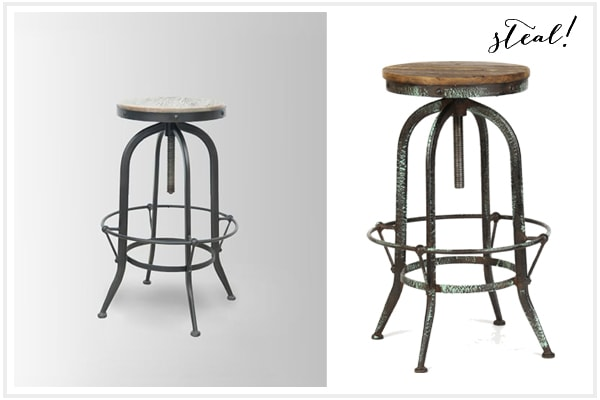 Barstool - Look For Less - Kirklandu0027s Edition  sc 1 st  A Blissful Nest & Look For Less Decor - Industrial Glam Style with Kirklands islam-shia.org