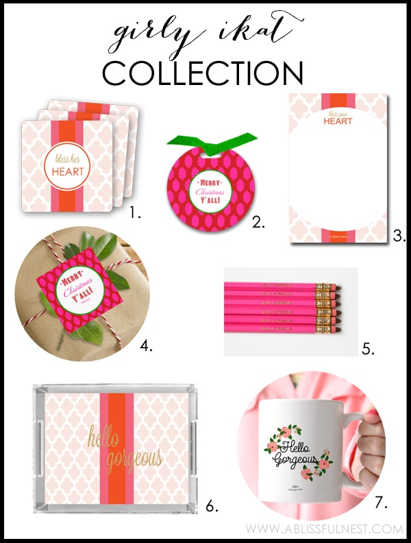 Girly Ikat Collection by A Blissful Nest