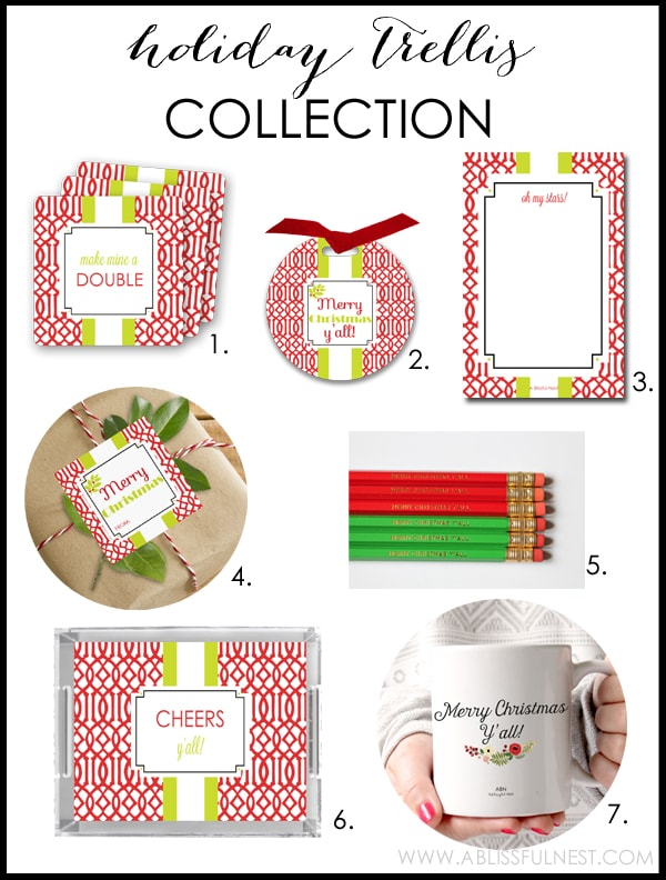 Holiday Trellis Collection by A Blissful Nest