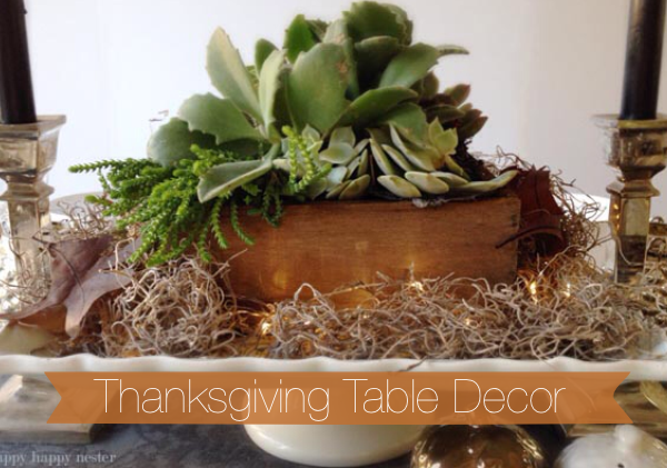 Thanksgiving Table Setting Ideas Using Succulents