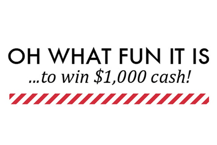 Oh What Fun…$1,000 Cash Prize Giveaway