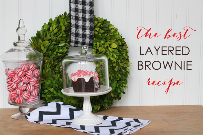 The Best Layered Brownie Recipe & My New Favorite Cupcake Stand