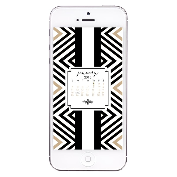 January Free iPhone Wallpaper by A Blissful Nest