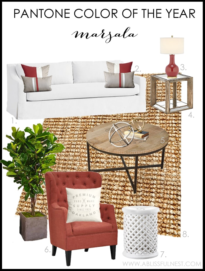 Pantone Color of The Year Marsala by A Blissful Nest
